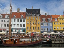 Colorful houses in Copenhagen